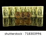 physical version of bitcoin ... | Shutterstock . vector #718303996