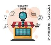 shopping online business | Shutterstock .eps vector #718306216