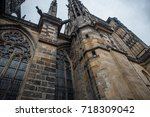 st. vita s cathedral details in ... | Shutterstock . vector #718309042