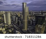 the downtown district of ... | Shutterstock . vector #718311286