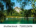 bled castle on the lake ... | Shutterstock . vector #718312696