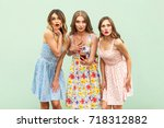 people emotions and feelings.... | Shutterstock . vector #718312882