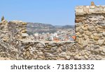 view to the downtown kavala... | Shutterstock . vector #718313332