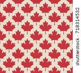 autumn maple leaves symmetrical ... | Shutterstock .eps vector #718314532