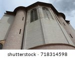 assisi building and archers  | Shutterstock . vector #718314598