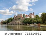 views of the castle from the... | Shutterstock . vector #718314982