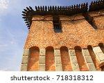 walls of tula kremlin. russia | Shutterstock . vector #718318312