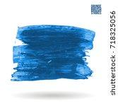blue brush stroke and texture.... | Shutterstock .eps vector #718325056