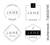 set of personal logo templates. ... | Shutterstock .eps vector #718326745