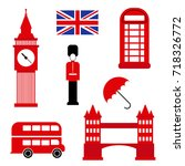 london british style icon set