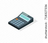 electronic calculator portable... | Shutterstock .eps vector #718327336