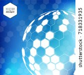 vector hexagon for backgrounds  ... | Shutterstock .eps vector #718331935