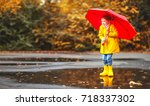happy child girl with an... | Shutterstock . vector #718337302