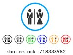 wc persons rounded icon. style... | Shutterstock .eps vector #718338982