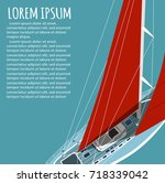 yacht club flyer design with... | Shutterstock .eps vector #718339042