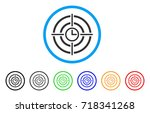 time target rounded icon. style ... | Shutterstock .eps vector #718341268
