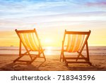 beach tourism  holiday... | Shutterstock . vector #718343596
