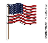 flag united states of america... | Shutterstock .eps vector #718350412
