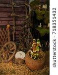village | Shutterstock . vector #718351432