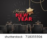 illustration for new year on a... | Shutterstock .eps vector #718355506