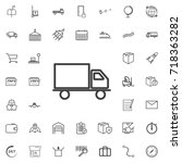 delivery  truck line icon... | Shutterstock .eps vector #718363282