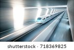 Futuristic Modern Train ...