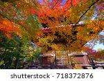 seiryoji is a zen temple on the ... | Shutterstock . vector #718372876