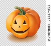 realistic vector halloween...   Shutterstock .eps vector #718374538