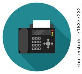 fax icon. illustration in flat... | Shutterstock .eps vector #718377232