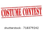 costume contest grunge rubber... | Shutterstock .eps vector #718379242