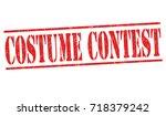 costume contest grunge rubber... | Shutterstock .eps vector #718379242