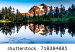 mount baker  washington   usa | Shutterstock . vector #718384885