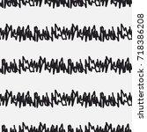 messy random zigzag lines and... | Shutterstock .eps vector #718386208