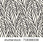 vector illustration of leaves... | Shutterstock .eps vector #718388338