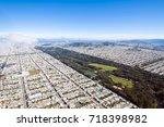 richmond and golden gate park ... | Shutterstock . vector #718398982