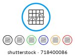 dotted line grid plot rounded... | Shutterstock .eps vector #718400086