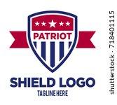 shield emblem vector template  | Shutterstock .eps vector #718401115