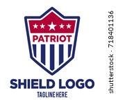 shield logo emblem | Shutterstock .eps vector #718401136