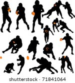 american football collection  ... | Shutterstock .eps vector #71841064