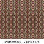seamless texture of a relief... | Shutterstock . vector #718415476