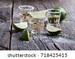 tequila gold  mexican  alcohol... | Shutterstock . vector #718425415