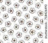 floral seamless pattern. hand... | Shutterstock .eps vector #718426492