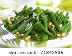 green beans with parmesan and... | Shutterstock . vector #71842936