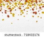 autumnal vector background.... | Shutterstock .eps vector #718433176