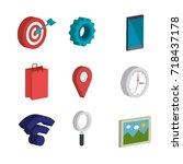 electronic commerce isometrics...   Shutterstock .eps vector #718437178
