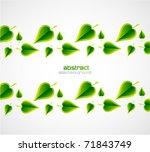 vector nature leaves | Shutterstock .eps vector #71843749