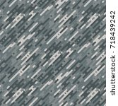 military camouflage seamless... | Shutterstock .eps vector #718439242