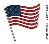 united states of america flag | Shutterstock .eps vector #718441366