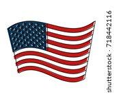 united states of america flag | Shutterstock .eps vector #718442116