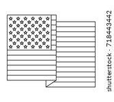 united states of america flag | Shutterstock .eps vector #718443442